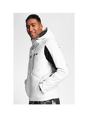 Jachetă de schi pentru bărbați KUMN256 - alb
