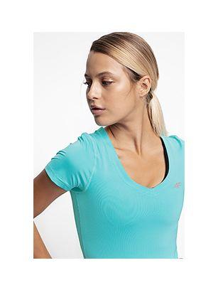 Tricou de antrenament pentru femei TSDF300 - mentă