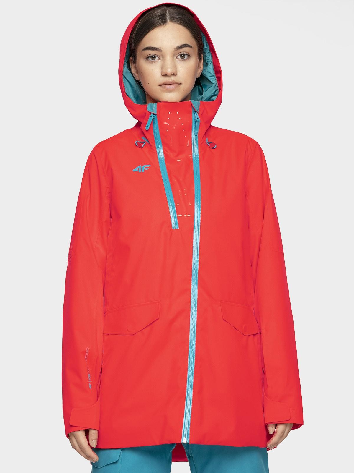 Imagine Jacheta De Snowboard Pentru Femei Kuds205 Rosu Neon